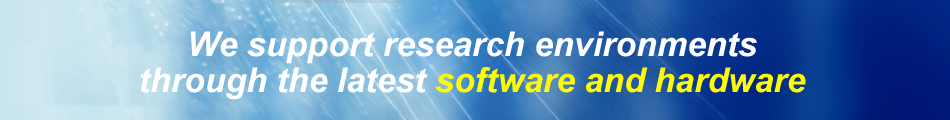 Providing research environment for chemical, pharmaceutical, biological and medical through bleeding edge software, database and hardware.